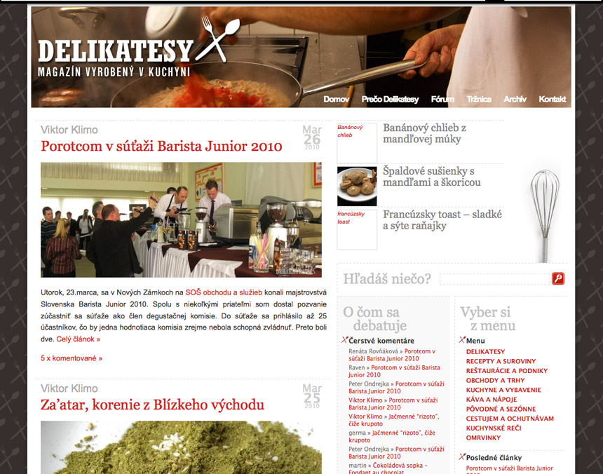 March 2010 version of delikatesy.sk