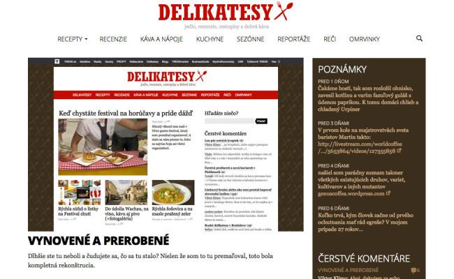 delikatesy.sk 2016 redesign