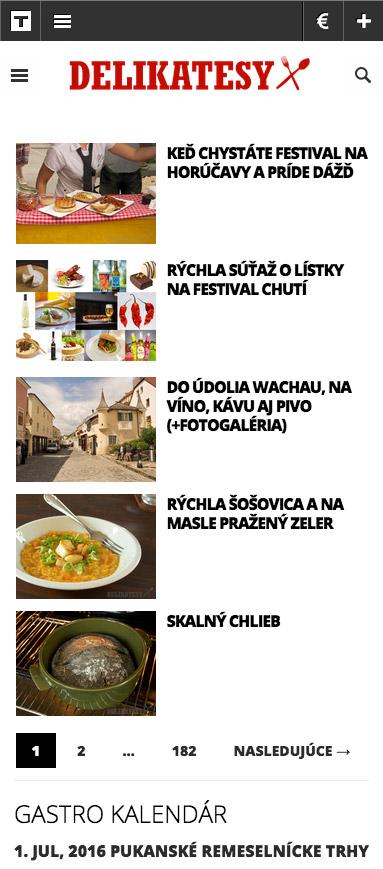 Delikatesy.sk on mobiles